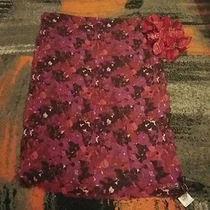Coach painted floral scarf